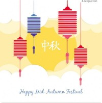 Hand painted lanterns on Mid Autumn Festival