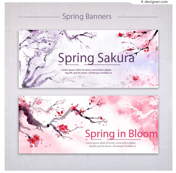Ink Cherry Blossom material