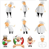 Pizza chefs and other cartoons
