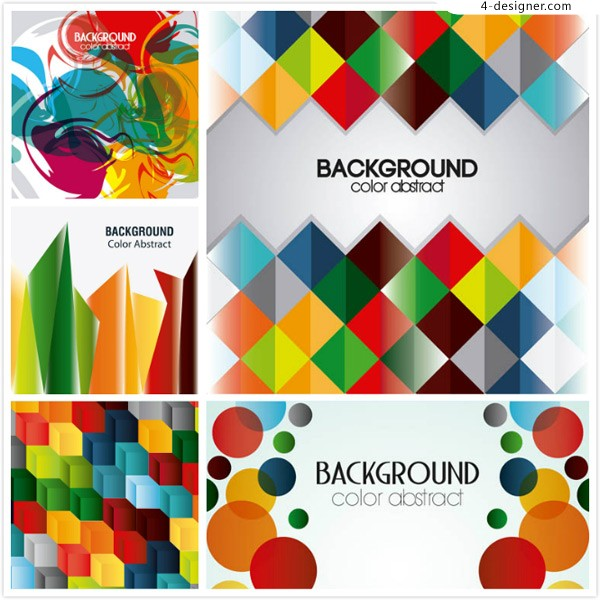 Abstract background of geometric figure