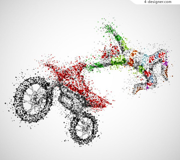 Abstract motorcycle characters