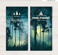 Banner of sunset forest