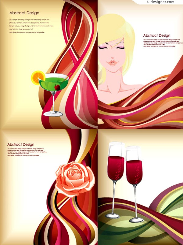 Beauty red wine vector
