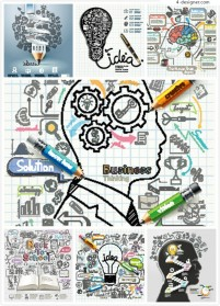 Business creative hand drawing