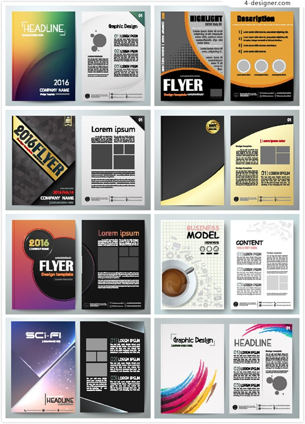 Business single page design vector