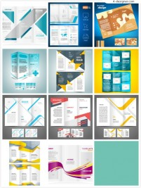 Business three folding vector