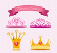 Cartoon princess crown