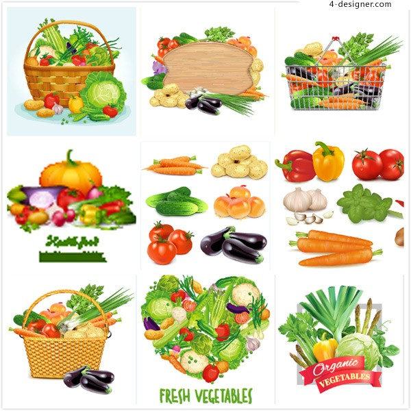 Cartoon vegetable design vector