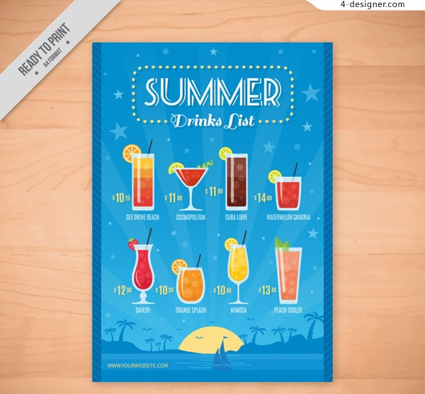 Cold drink price list in summer