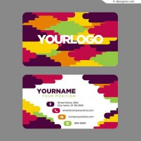Colorful personality name card