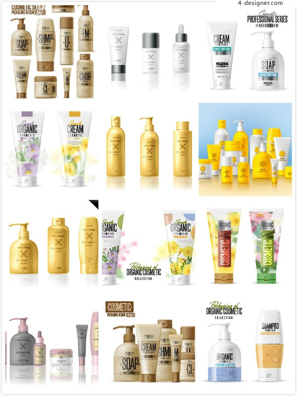 Cosmetics packaging for skin care products
