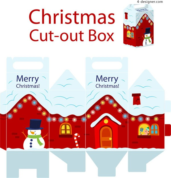 Design of Christmas packing box