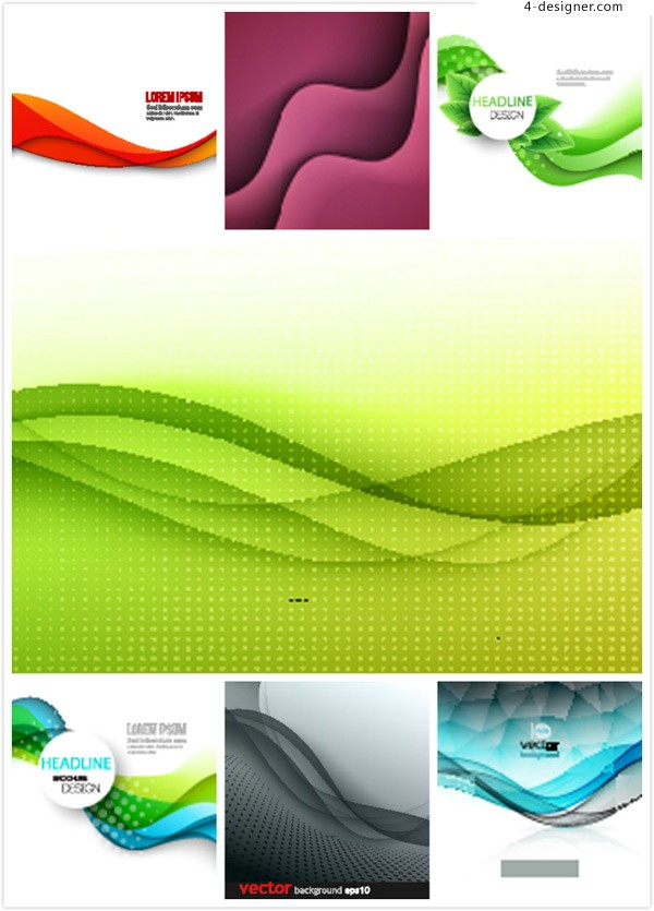 Dynamic curve line background