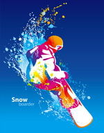Dynamic skiing competition Poster