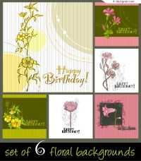 Elegant hand painted flower background