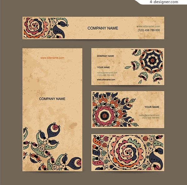 European classical pattern cards