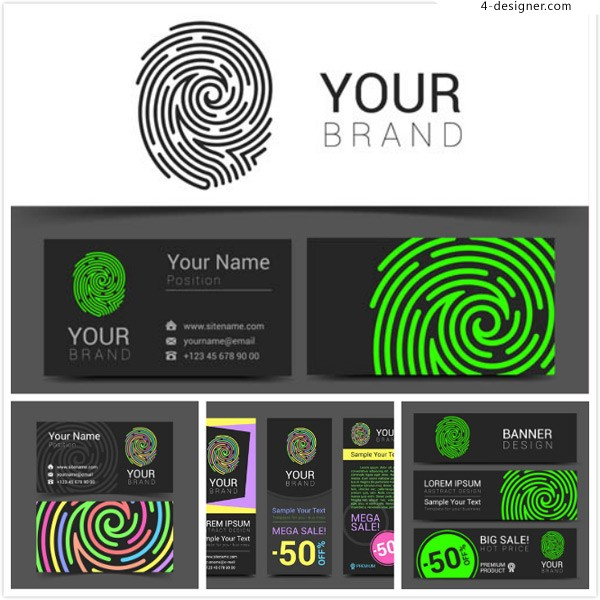 Fingerprint pattern card