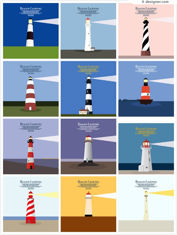 Flat design of Lighthouse