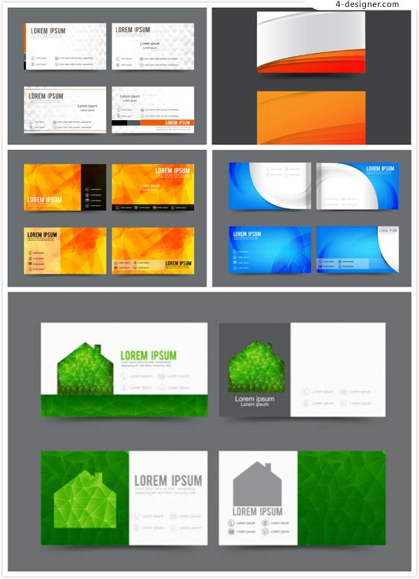 Geometric element business card vector