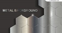 Geometric metal background vector