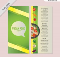 Green vegetarian menu