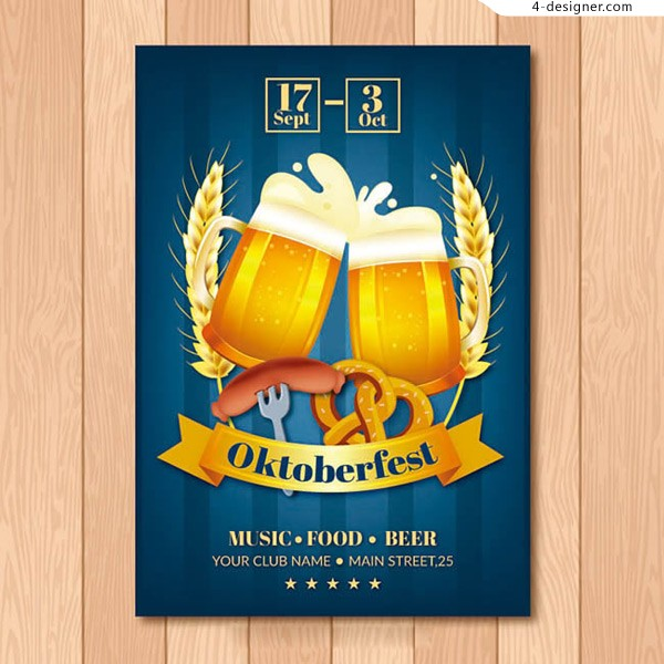 Hand painted Beer Festival Poster