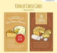 Handmade cards for dry cheese