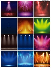 Lighting efficiency of stage lighting