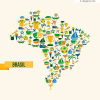 Map of Brazil Olympic Games