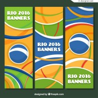 Olympic Abstract banners