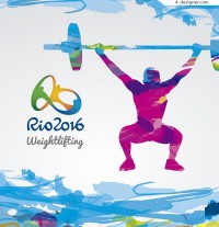 Olympic Abstract weightlifting