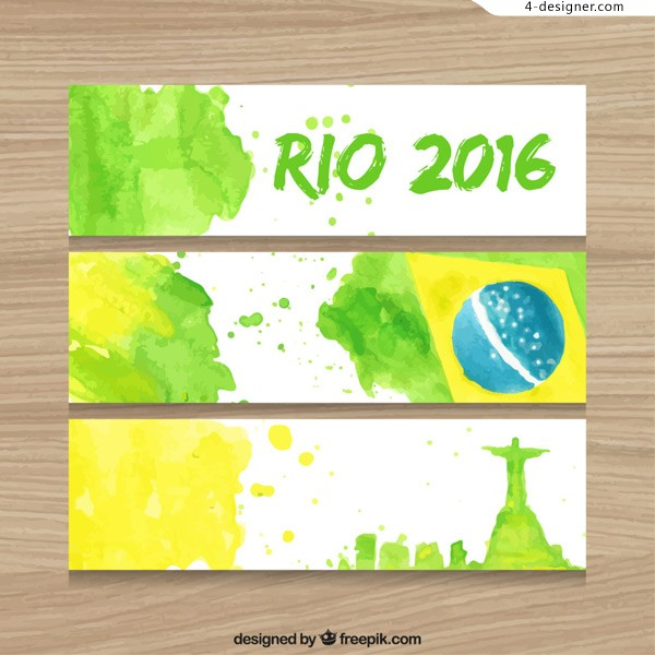 Olympic watercolor banner