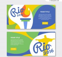 Olympic wave banners