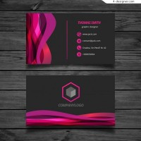 Pink wave card