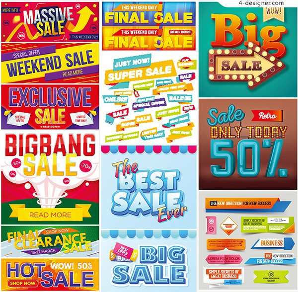 Promotional fashion banners