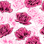Roses hand painted background