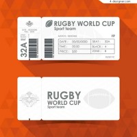 Rugby ticket vector