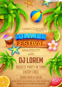 Summer Theme Poster