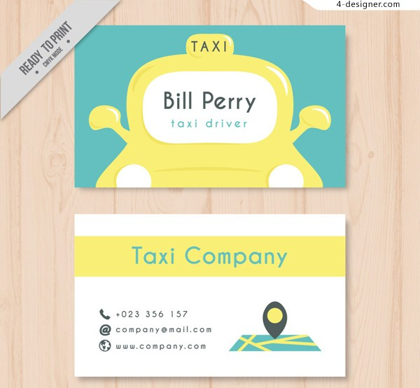 Taxi driver s name card