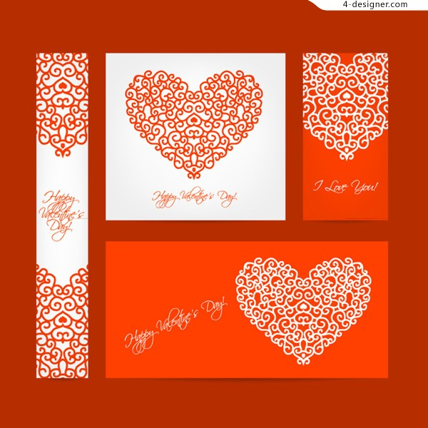 Valentine s Day pattern cards