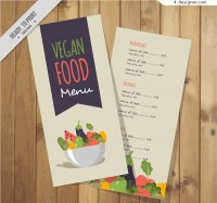 Vector vegetarian menu