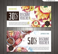 Watercolor food discount card