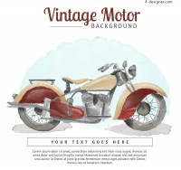 Watercolor motorcycle Poster