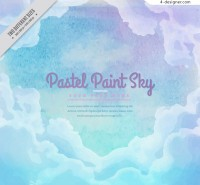 Watercolor sky background vector