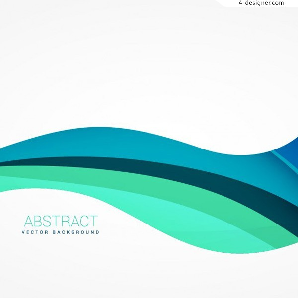Wave abstract line background