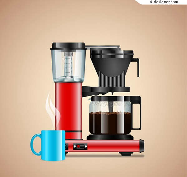 Automatic coffee machine vector