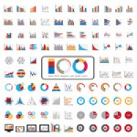 Charts and graphics icons
