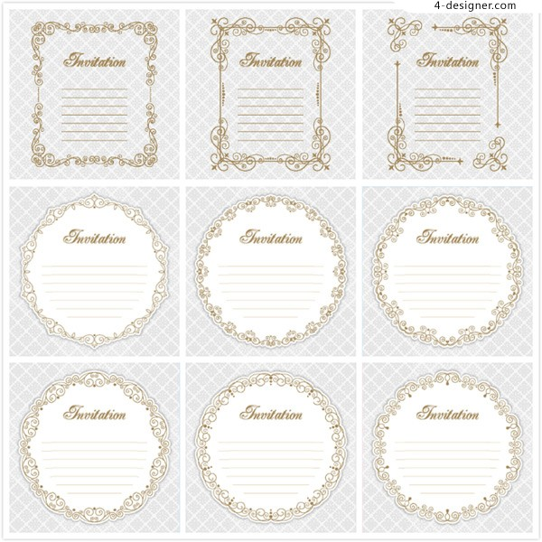 Circular pattern invitation card