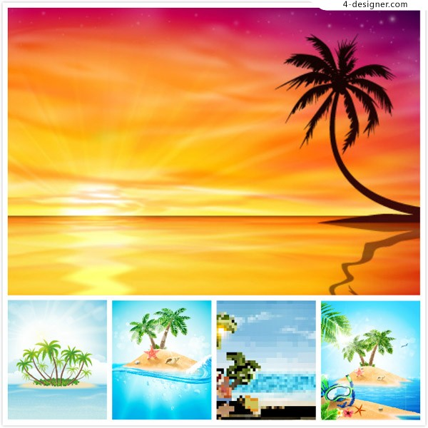 Coconut trees in summer