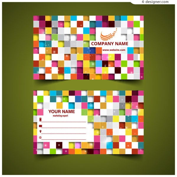 Color mosaic business card